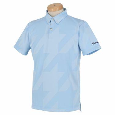 タイトリスト Titleist メンズ 千鳥柄 ジャガード 半袖 ボタンダウン ポロシャツ TSMC2012 2020年モデル サックス(SX)