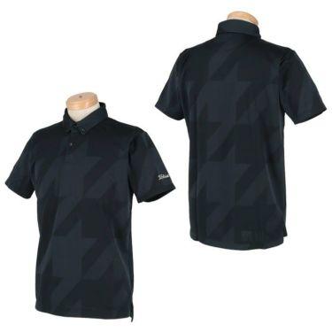 タイトリスト Titleist メンズ 千鳥柄 ジャガード 半袖 ボタンダウン ポロシャツ TSMC2012 2020年モデル 詳細3