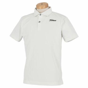 タイトリスト Titleist メンズ ロゴ刺繍 メッシュ切替 半袖 ポロシャツ TSMC2018 2020年モデル ホワイト(WT)