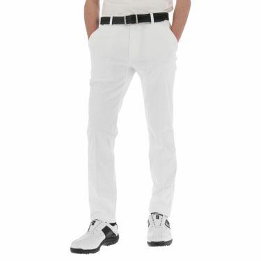 タイトリスト Titleist メンズ ロゴ刺繍 ドビーストレッチ テーパード ロングパンツ TSMP2072 2020年モデル [裾上げ対応1●] ホワイト(WT)