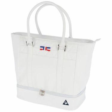 ルコック Le coq sportif レディース 二層式 トートバッグ QQCRJA00 WH00 ホワイト 2021年モデル ホワイト(WH00)