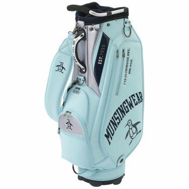 マンシングウェア Munsingwear メンズ ロゴ刺繍 キャディバッグ MQBRJJ02 SA00 サックス 2021年モデル サックス(SA00)