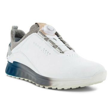 ecco エコー M GOLF S-THREE BOA エス・スリー ボア メンズ スパイクレス ゴルフシューズ 102914 60061 WHITE/SEAPORT WHITE/SEAPORT(60061)