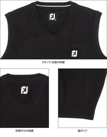 フットジョイ FootJoy メンズ ロゴ刺繍 Vネック ニットベスト FJ-S20-M01 2020年モデル 詳細4