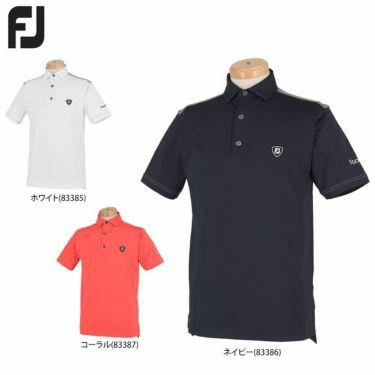 フットジョイ FootJoy メンズ ロゴワッペン 生地切替 半袖 ポロシャツ FJ-S20-S11 2020年モデル 詳細1