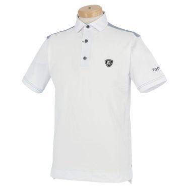 フットジョイ FootJoy メンズ ロゴワッペン 生地切替 半袖 ポロシャツ FJ-S20-S11 2020年モデル ホワイト(83385)