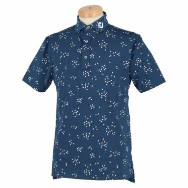 フットジョイ FootJoy メンズ 総柄 バードフロックプリント 半袖 ポロシャツ FJ-S20-S13 2020年モデル ディープブルー(83438)