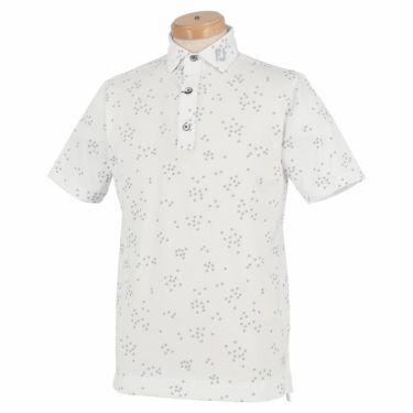 フットジョイ FootJoy メンズ 総柄 バードフロックプリント 半袖 ポロシャツ FJ-S20-S13 2020年モデル ホワイト/グレー(83437)