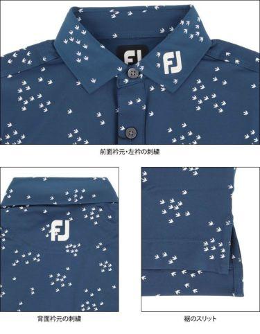 フットジョイ FootJoy メンズ 総柄 バードフロックプリント 半袖 ポロシャツ FJ-S20-S13 2020年モデル 詳細4