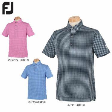 フットジョイ FootJoy メンズ チェック柄 4WAYストレッチ 半袖 ボタンダウン ポロシャツ FJ-S20-S22 2020年モデル 詳細1
