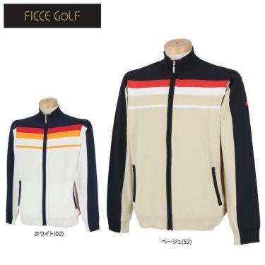 フィッチェゴルフ FICCE GOLF メンズ ライン配色 長袖 フルジップ セーター 281100 詳細1
