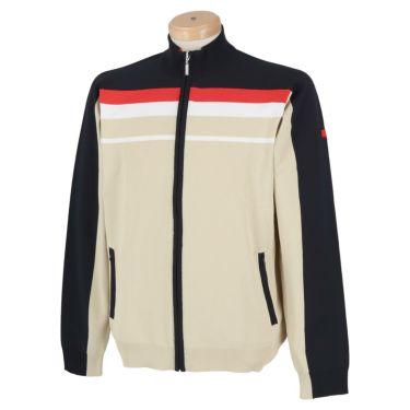 フィッチェゴルフ FICCE GOLF メンズ ライン配色 長袖 フルジップ セーター 281100 ベージュ(52)