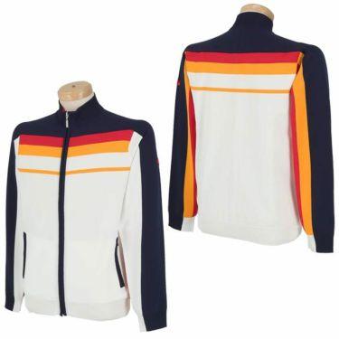 フィッチェゴルフ FICCE GOLF メンズ ライン配色 長袖 フルジップ セーター 281100 詳細3