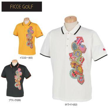 フィッチェゴルフ FICCE GOLF メンズ KENKEN プリント柄 半袖 ポロシャツ 291115 詳細1