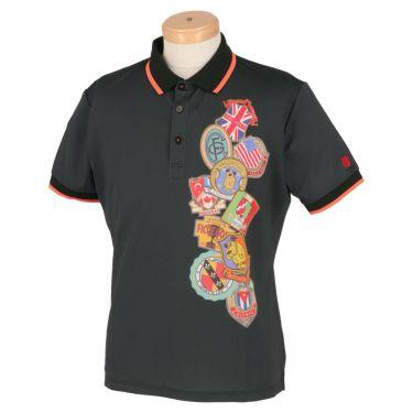フィッチェゴルフ FICCE GOLF メンズ KENKEN プリント柄 半袖 ポロシャツ 291115 ブラック(09)