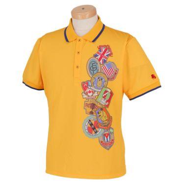 フィッチェゴルフ FICCE GOLF メンズ KENKEN プリント柄 半袖 ポロシャツ 291115 イエロー(65)