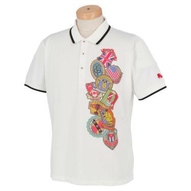 フィッチェゴルフ FICCE GOLF メンズ KENKEN プリント柄 半袖 ポロシャツ 291115 ホワイト(02)