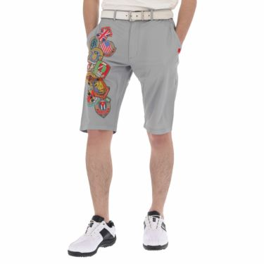 フィッチェゴルフ FICCE GOLF メンズ KENKEN プリント柄 ショートパンツ 291208 グレー(15)
