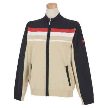 フィッチェゴルフ FICCE GOLF レディース ロゴ刺繍 ライン配色 長袖 フルジップ セーター 282300 ベージュ(52)