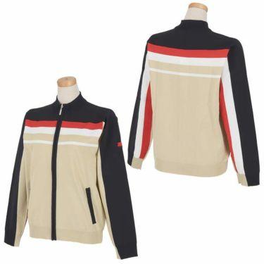 フィッチェゴルフ FICCE GOLF レディース ロゴ刺繍 ライン配色 長袖 フルジップ セーター 282300 詳細3