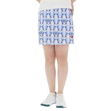 フィッチェゴルフ FICCE GOLF レディース リーフ総柄 アンダーパンツ付き スカート 292400 ターコイズブルー(85)