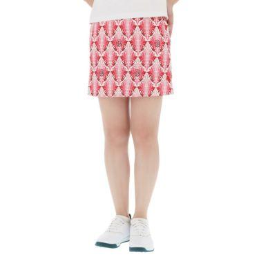 フィッチェゴルフ FICCE GOLF レディース リーフ総柄 アンダーパンツ付き スカート 292400 ピンク(25)