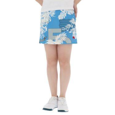 フィッチェゴルフ FICCE GOLF レディース ボタニカル柄 アンダーパンツ付き スカート 292402 ブルー(85)