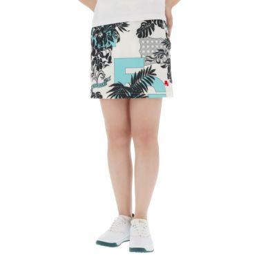 フィッチェゴルフ FICCE GOLF レディース ボタニカル柄 アンダーパンツ付き スカート 292402 ターコイズ(75)