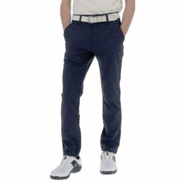 【ss特価】△ルコック メンズ ジャカード 総柄 ストレッチ ロングパンツ QGMPJD01 [2020年モデル] ゴルフウェア [春夏モデル 50%OFF] 特価 [裾上げ対応1●] ネイビー(NV00)
