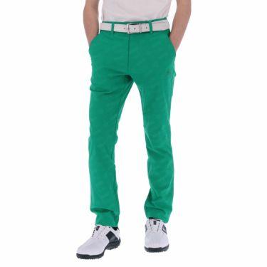 【ss特価】△ルコック メンズ ジャカード 総柄 ストレッチ ロングパンツ QGMPJD01 [2020年モデル] ゴルフウェア [春夏モデル 50%OFF] 特価 [裾上げ対応1●] グリーン(GR00)