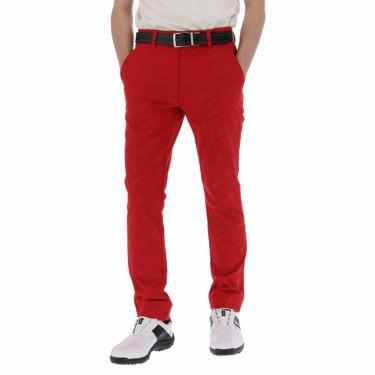 【ss特価】△ルコック メンズ ジャカード 総柄 ストレッチ ロングパンツ QGMPJD01 [2020年モデル] ゴルフウェア [春夏モデル 50%OFF] 特価 [裾上げ対応1●] レッド(RD00)