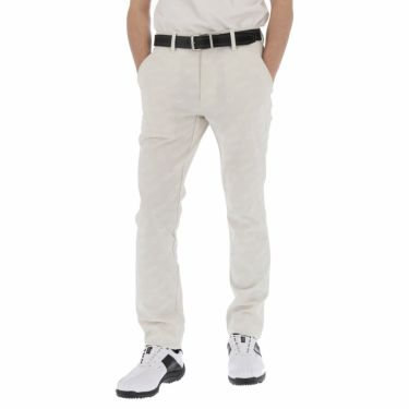 【ss特価】△ルコック メンズ ジャカード 総柄 ストレッチ ロングパンツ QGMPJD01 [2020年モデル] ゴルフウェア [春夏モデル 50%OFF] 特価 [裾上げ対応1●] ホワイト(WH00)
