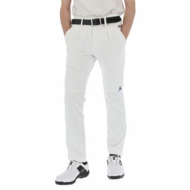 【ss特価】△ルコック メンズ 4WAYストレッチ ワンタック ロングパンツ QGMPJD03 [2020年モデル] ゴルフウェア [春夏モデル 50%OFF] 特価 [裾上げ対応1●] ホワイト(WH00)