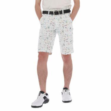 ルコック Le coq sportif メンズ スプラッシュ柄 ショートパンツ QGMPJD53 2020年モデル ホワイト(WH00)