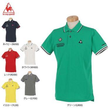 ルコック Le coq sportif メンズ ロゴ刺繍 鹿の子 半袖 ポロシャツ QGMPJA00 2020年モデル 詳細1