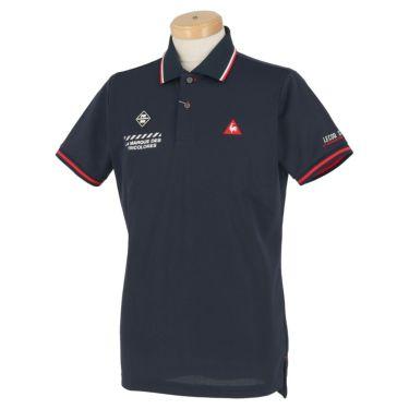 ルコック Le coq sportif メンズ ロゴ刺繍 鹿の子 半袖 ポロシャツ QGMPJA00 2020年モデル ネイビー(NV00)