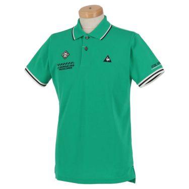 ルコック Le coq sportif メンズ ロゴ刺繍 鹿の子 半袖 ポロシャツ QGMPJA00 2020年モデル グリーン(GR00)