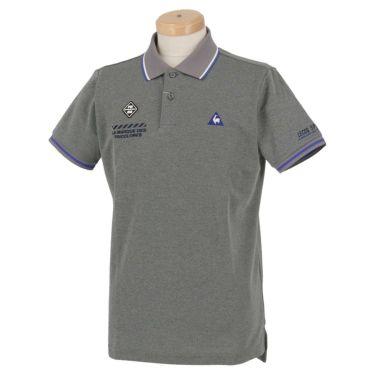 ルコック Le coq sportif メンズ ロゴ刺繍 鹿の子 半袖 ポロシャツ QGMPJA00 2020年モデル グレー(GY00)