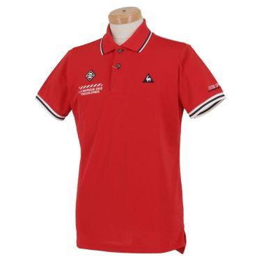 ルコック Le coq sportif メンズ ロゴ刺繍 鹿の子 半袖 ポロシャツ QGMPJA00 2020年モデル レッド(RD00)