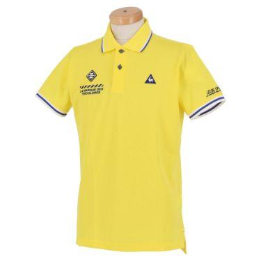 ルコック Le coq sportif メンズ ロゴ刺繍 鹿の子 半袖 ポロシャツ QGMPJA00 2020年モデル イエロー(YL00)