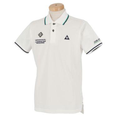 ルコック Le coq sportif メンズ ロゴ刺繍 鹿の子 半袖 ポロシャツ QGMPJA00 2020年モデル ホワイト(WH00)