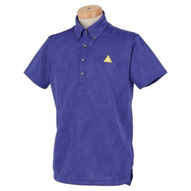 ルコック Le coq sportif メンズ ロゴ刺繍 総柄 ジャガード 半袖 ボタンダウン ポロシャツ QGMPJA03 2020年モデル ブルー(BL00)