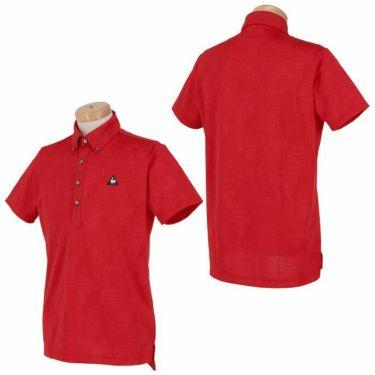 ルコック Le coq sportif メンズ ロゴ刺繍 総柄 ジャガード 半袖 ボタンダウン ポロシャツ QGMPJA03 2020年モデル 詳細3