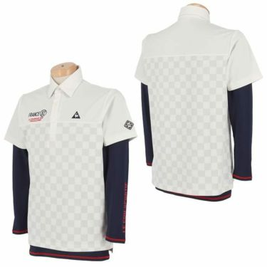 ルコック Le coq sportif メンズ 市松柄 半袖 ポロシャツ & 長袖 インナーシャツ QGMPJA04W 2020年モデル 詳細3