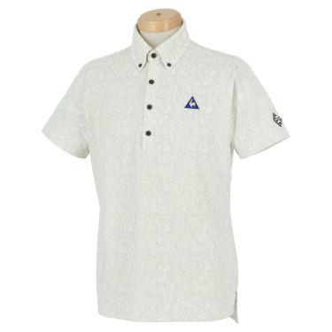 ルコック Le coq sportif メンズ ロゴ刺繍 鹿の子 カモフラージュ柄 半袖 ボタンダウン ポロシャツ QGMPJA10 2020年モデル グレー(GY00)