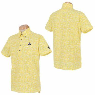ルコック Le coq sportif メンズ ロゴ刺繍 鹿の子 カモフラージュ柄 半袖 ボタンダウン ポロシャツ QGMPJA10 2020年モデル 詳細3
