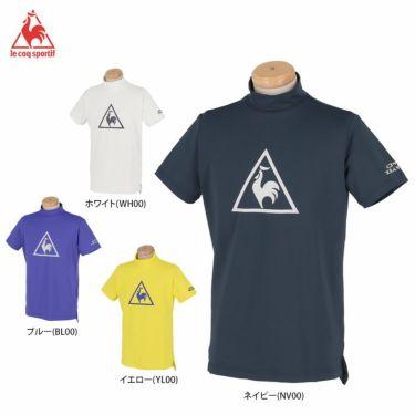 ルコック Le coq sportif メンズ ビッグロゴプリント 半袖 モックネックシャツ QGMPJA12 2020年モデル 詳細1