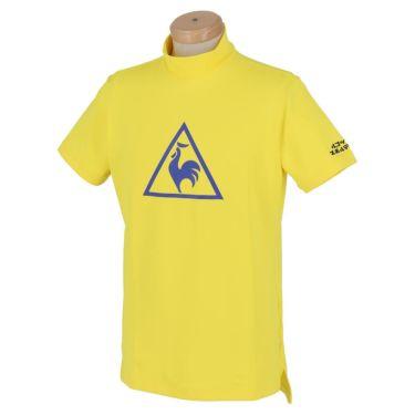 ルコック Le coq sportif メンズ ビッグロゴプリント 半袖 モックネックシャツ QGMPJA12 2020年モデル イエロー(YL00)