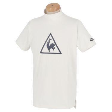 ルコック Le coq sportif メンズ ビッグロゴプリント 半袖 モックネックシャツ QGMPJA12 2020年モデル ホワイト(WH00)