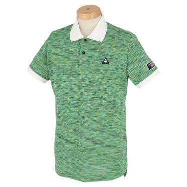 ルコック Le coq sportif メンズ ロゴ刺繍 プリントデザイン メランジ柄 半袖 ポロシャツ QGMPJA21 2020年モデル グリーン(GR00)